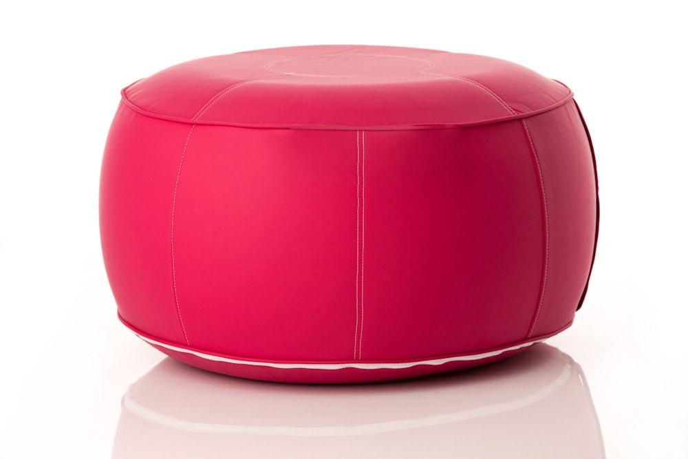 pouf gonflable housse textile similicuir fuchsia vid air. Black Bedroom Furniture Sets. Home Design Ideas